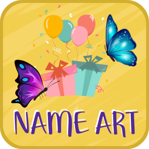 Birthday Cards Name Art Maker Icon