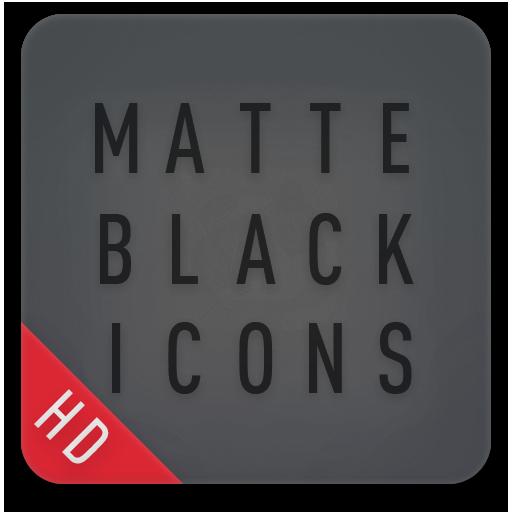 Matte Black Icon Pack
