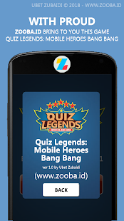 Quiz Legends: ML Heroes & Items Screenshot