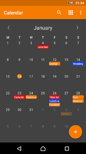 Screenshot for Simple Calendar Pro in United States Play Store