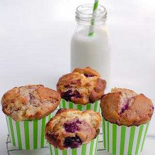 Raspberry, Macadamia And White Chocolate Muffins