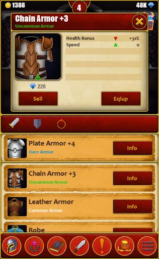 Télécharger Infinite Dungeons( Clicker / Idle  RPG ) mod apk screenshots 4