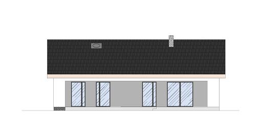 Energodom2 (oferta z budową) - Elewacja tylna