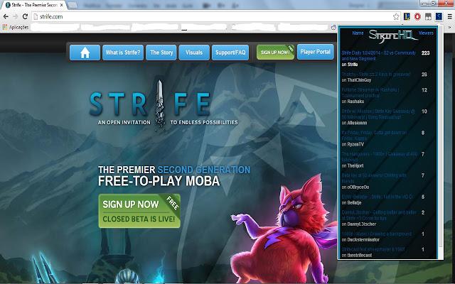 Strife Stream Browser!