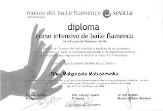 Photo: 2008r. intensywny kurs tańca flamenco (tanguillo gitano, habanera z kastanietami); lekcje indywidualne (18 h); prof. Carmen Lozano; Museo del Baile Flamenco Sevilla