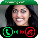 Fake Call Girls Simulated icon