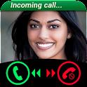 Fake Call Girls Simulated icon