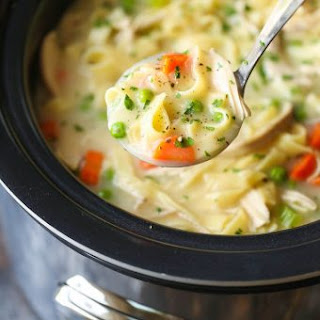 Slow Cooker Creamy Chicken Noodle Soup Recipe