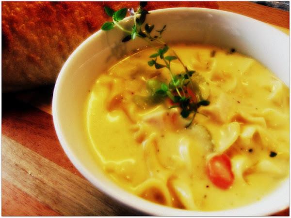 Creamy Chicken Noodle Soup Recipe