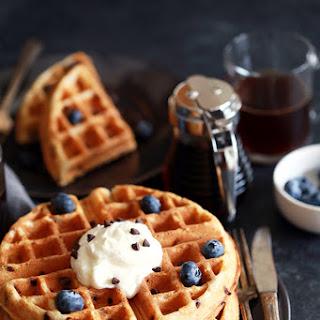 Chocolate Chip Yogurt Waffles Recipe
