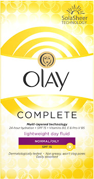 Olay Complete Lightweight 3in1 Moisturiser Day Fluid - Normal & Oily Skin, 100ml