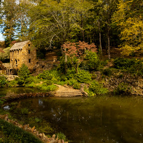 Ye Olde Grist Mill by John Berry - City,  Street & Park  City Parks