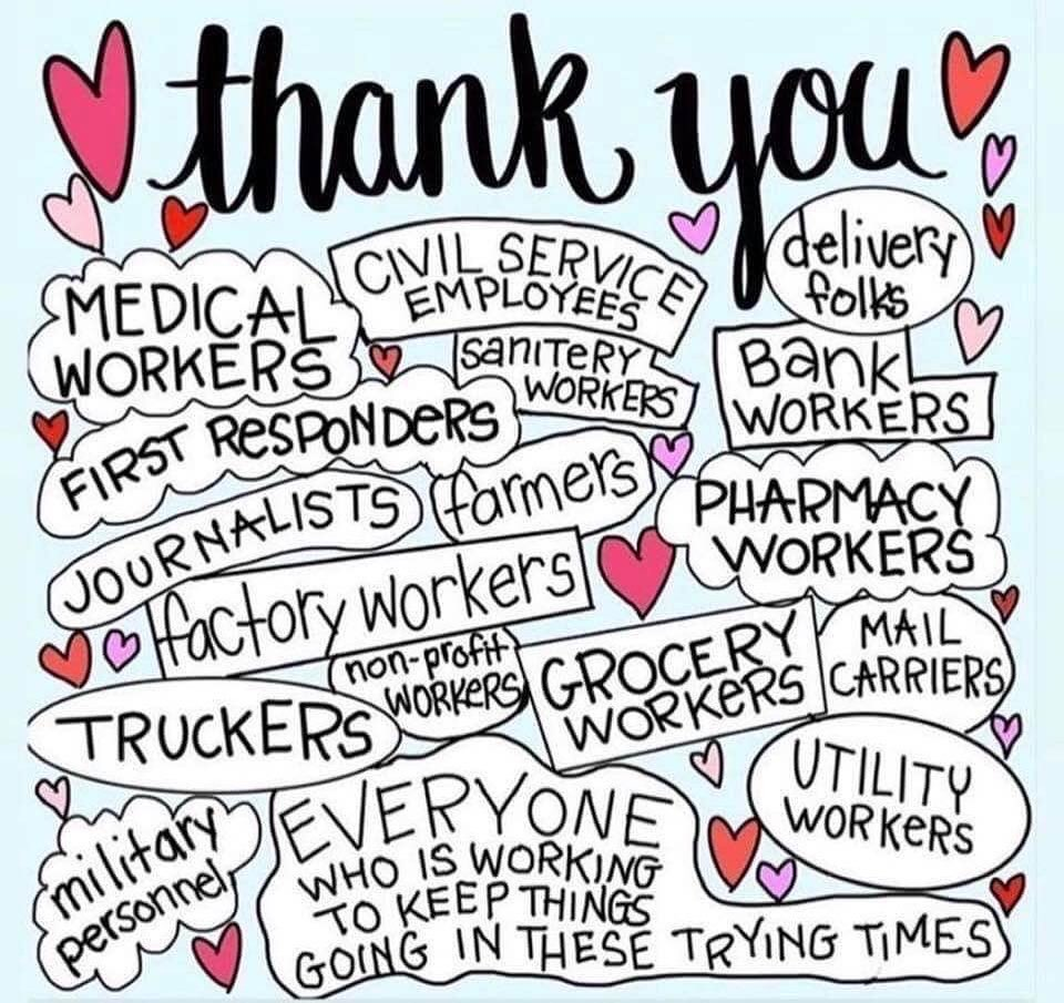 Remember To Thank Grocery Store Employees, Nurses, Truck Drivers