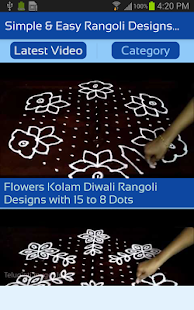 Simple & Easy Rangoli Designs with Dots for Diwali - náhled