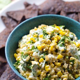 Jalapeño Quinoa Corn Dip.