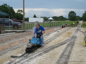 Photo: Kari Wirth with Simpson 2-6-0.  HALS-SLWS 2009-0522