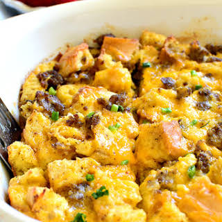 Sausage Egg Cheese Casserole Without Bread Recipes.