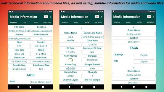 Media Info - náhled