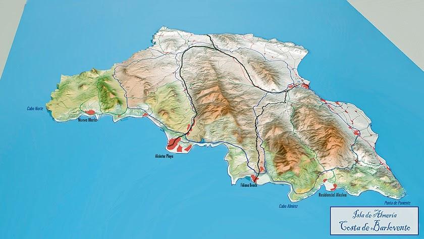 Costa de barlovento y organización territorial de la isla de Almería.