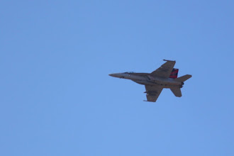 "Photo: Got buzzed by F-18s a few times.  Some passing mach, most not.  The ""slower"" ones were often pretty close."