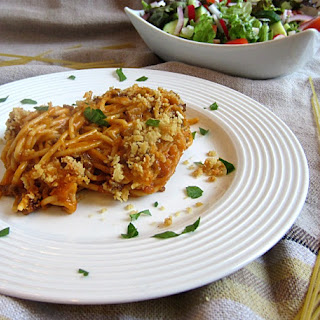 Spaghetti Cheeseburger Casserole