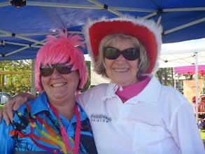 Photo: Trish Beales & Trish Greenfield - Dragons Abreast NT  Regatta June 2011