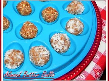 Almond Butter Balls Recipe