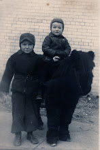 Photo: This was both Fr. Jim's and his brother Mike's favorite childhood picture. The pony could not be reached for comment.