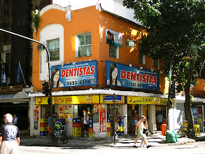 Photo: Corner shop, colorful, well located and well-used. Rio de Janeiro.