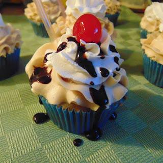 Vanilla Root-Beer Float Cupcakes.