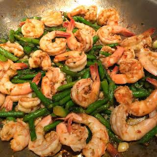 Shrimp and Stir-Fry Asparagus.