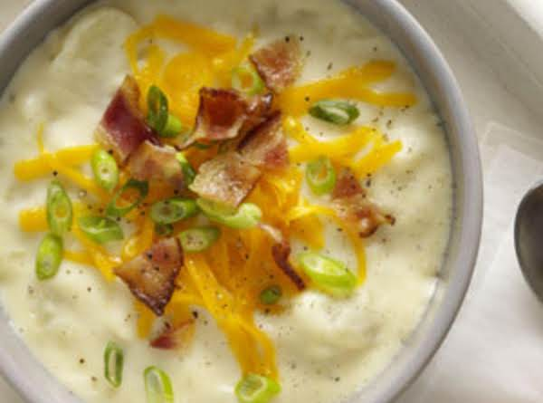 Baked Potato Cheddar Soup Recipe