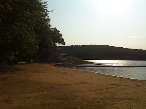 Photo: View of the beach towards the Boat House from the Beach Staff Building.