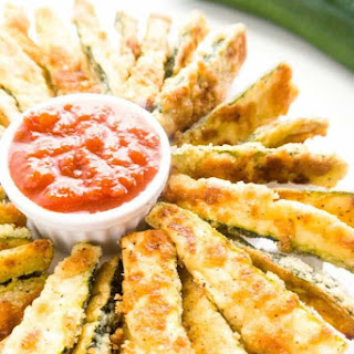 Zucchini Fries Recipe (Low Carb Parmesan Baked Zucchini Fries) Recipe
