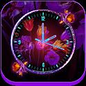Neon Flower Clock Live Wallpaper icon