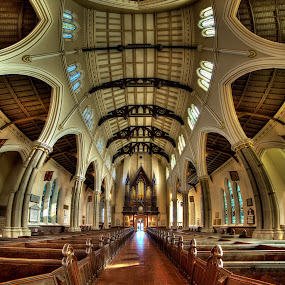 St. James Church  by Roland Shanidze - Buildings & Architecture Architectural Detail ( st. james anglican church, vertorama, canada, hdr, roland shainidze, toronto, ontario, perspective, lines, symmetry, architecture interior, pwcdetails-dq )