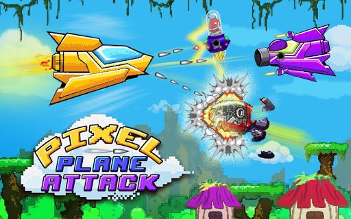 픽셀 비행기 공격