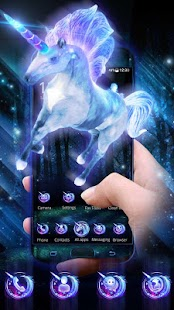 3D Dreamy Unicorn Galaxy Theme - náhled