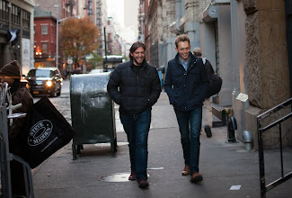Photo: Walking to the bookstore in NYC (photo by Spyr Media)