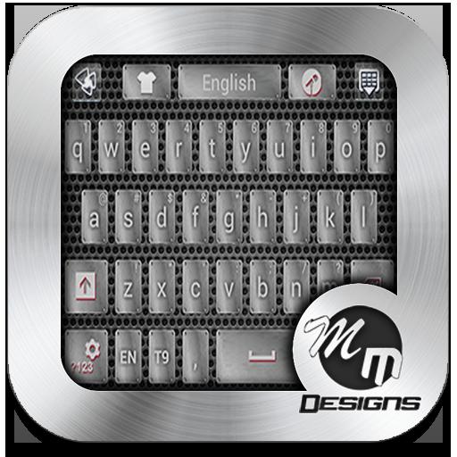 Metal GO Keyboard Emoji Theme