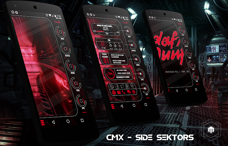 android CMX - Side Sektors for KLWP Screenshot 0