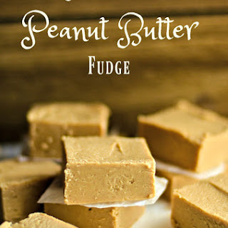 2 Ingredient Peanut Butter Fudge.