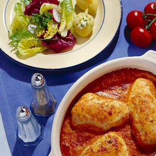 Hähnchen in Tomatencremesauce