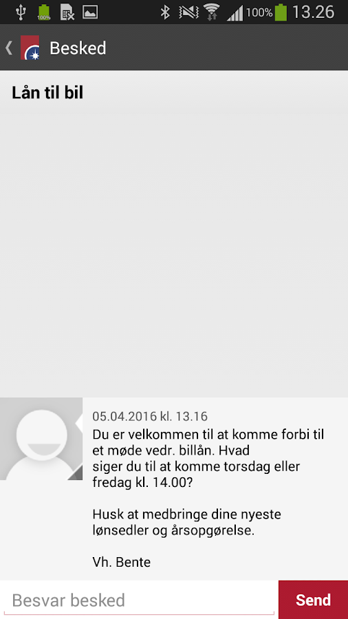 Spar Nord Mobilbank- screenshot