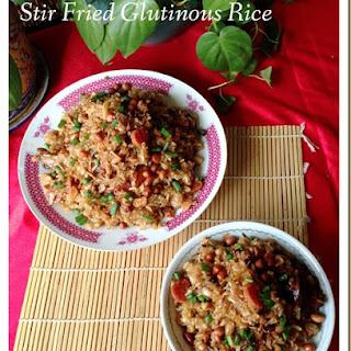Stir Fried Glutinous Rice Dish (生炒腊味糯米饭)..