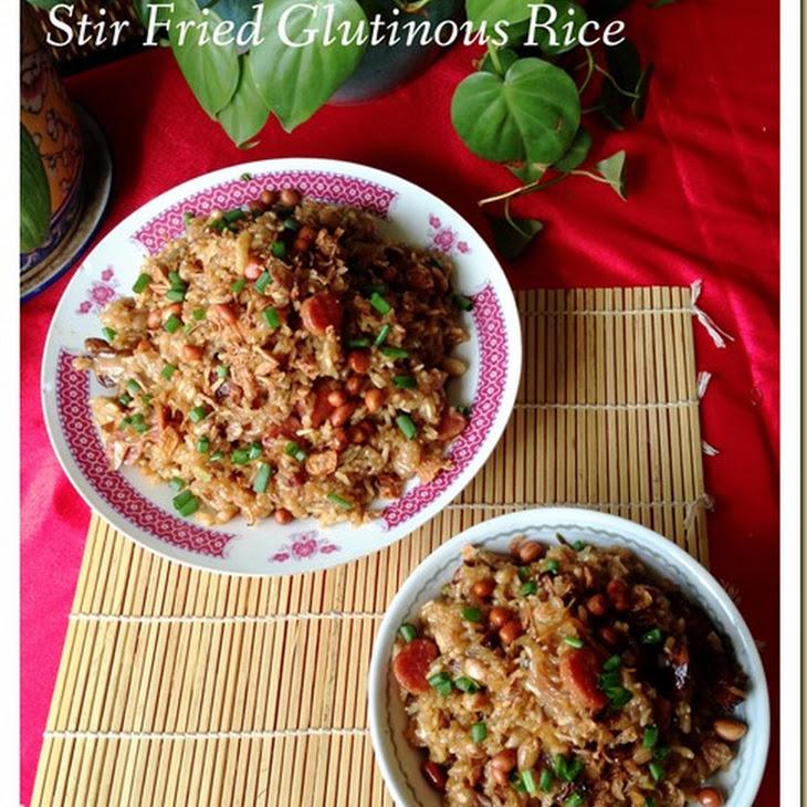 Stir Fried Glutinous Rice Dish (生炒腊味糯米饭). Recipe