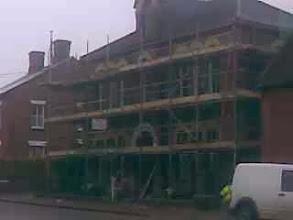 Photo: Horncastle Memorial hospital undergoing scaffold fun.