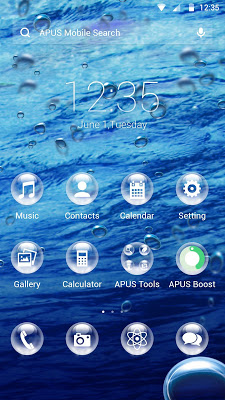 Drops-APUS Launcher theme - screenshot