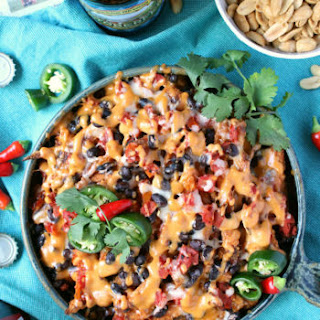 Baked Chipotle Queso Sweet Potato Fries.