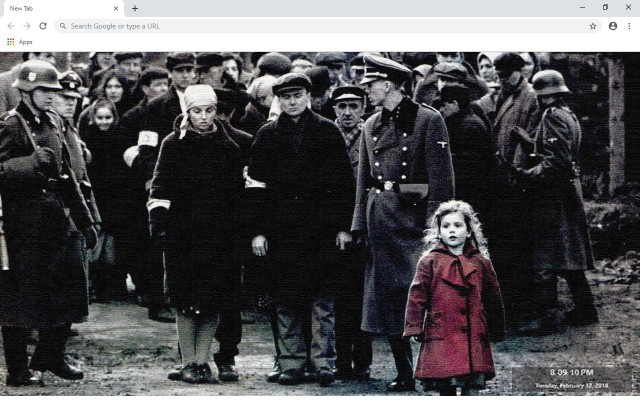 Schindler's List New Tab Theme